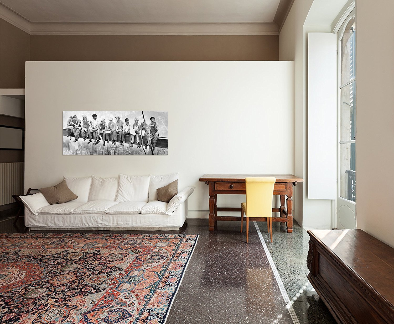 skylunch keilrahmenbild bild auf leinwand retro foto. Black Bedroom Furniture Sets. Home Design Ideas
