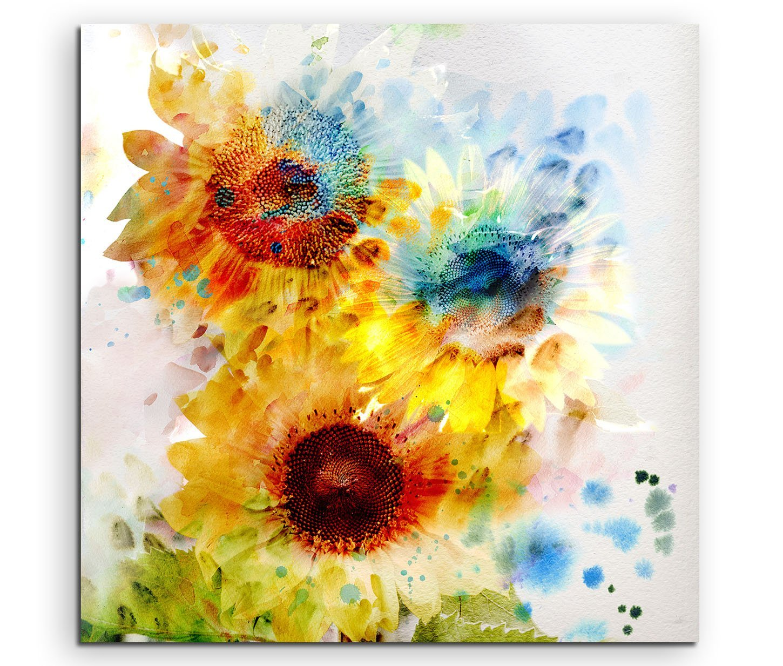 Leinwandbild Schöne bunte Sonnenblumen in bunten Farben | eBay