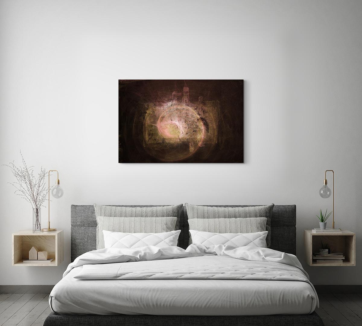 Schwarzes Loch Leinwandbild abstrakt