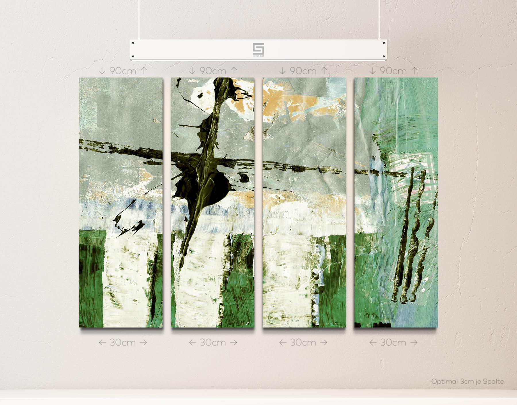 PAUL SINUS 100x70cm Kunstbild Wandbilder zeitlos neu abstrakt modern stilvoll